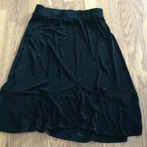 CHICO'S Travelers Black Slinky Stretch Skirt